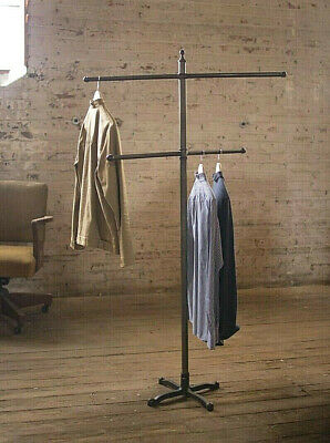 Spinning Clothes Rack Garment Stand Antique Vintage Style Coat Hat Holder