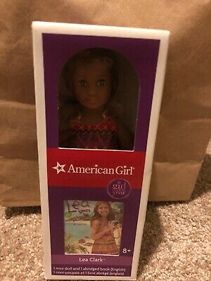 new in box american girl mini Tenney grant doll with book 6.5 in doll