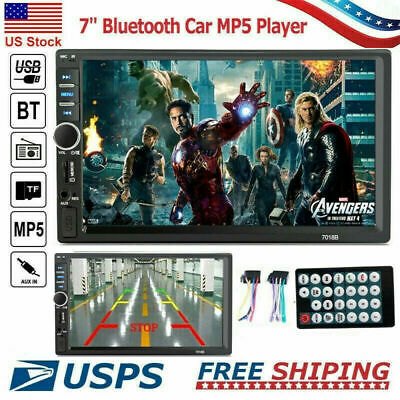Bluetooth FM Player Stereo Radio Car 7'' HD MP5 Touch Screen + 2* Remote Control