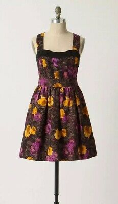 95734f0945 Twinkle By Wenlan Anthropologie Women s Silk Floral Cutout Dress 4