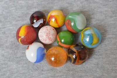 Vintage Shooter Marbles Agate Corkscrew Cat eye Tiger Eye Swirl