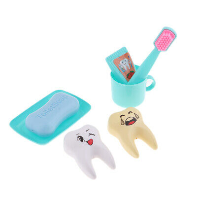 Doll House Toiletries Set Toothbrush Tooth Soap For 25cm Mellchan Doll Green