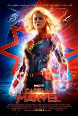 "Captain Marvel Movie Poster Brie Larson 13x20"" 24x36"" 27x40"" 32x48"" Art Print"