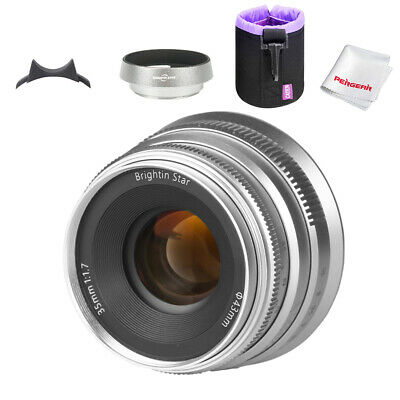 Brightin Star 35mm F1.7 Large Aperture Prime Manual lens for APS-C SONY E-mount