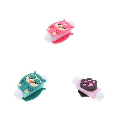 3x Cute USB Data Charger Cable Headphones Saver Protector Sleeve for Phone