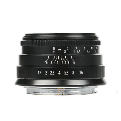 Brightin Star 35mm F1.7 Large Aperture Manual lens for Fuji X-mount+ Hood+ Pouch