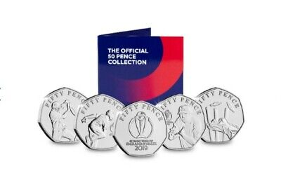2019 Isle Of Man Bunc Icc Cricket world cup 50p Coin Set **9,995 ONLY**