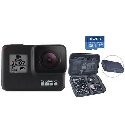 GoPro HERO7 Black - Bundle with Extreme Sport Accessory Set  32GB Card