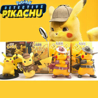 Movie Pokemon Action Figure Model Detective Pikachu Cosplay Toys Gift Collection