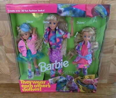 BARBIE Doll Vintage Sharin' Sisters Stacie Skipper Mattel 1991 MIB/New/NIB