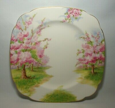 """Royal Albert Blossom Time 9 3/4"""" Square Dinner Plate In Very Good Condition"""