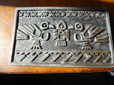 Belt Buckle Totem Tribal Goth Western North West Gift  approx. 3.5 x 2 in (I)