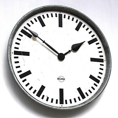 55cm WEST GERMAN 70s Midcentury Factory Retro Vintage Industrial Wall Clock Dial