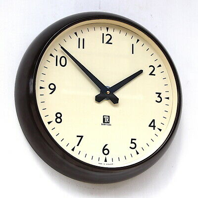 ENGLISH 1960s TELEPHONE RENTALS Industrial Office Midcentury Vintage Retro Clock