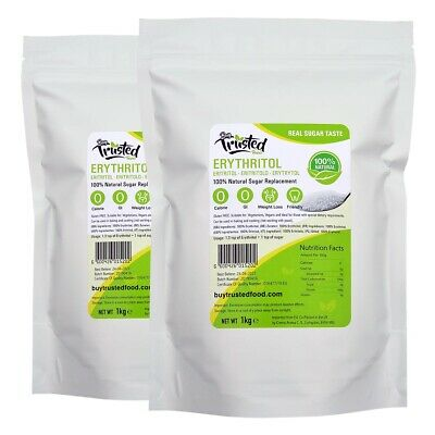 Erythritol 2kg - ZERO Calorie 100% Natural Sugar Replacement - ⭐⭐⭐⭐⭐ QUALITY!