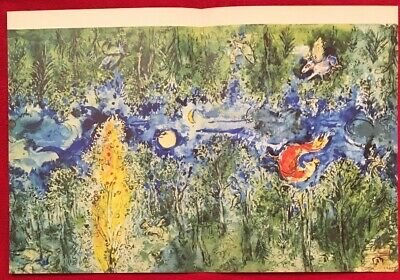 Marc Chagall,The First Curtain,  Offset.Lithograph1969, Mourlot,Paris