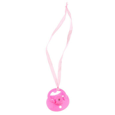 Pink Dummy Magnetic Pacifier for Reborn Baby Simulated Lifelike Doll Kid Toy