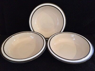 """FREEPOST! 3 x Denby MADRIGAL 7.5""""  (18.5cm) cereal soup bowls (3 sets avail) 1/3"""