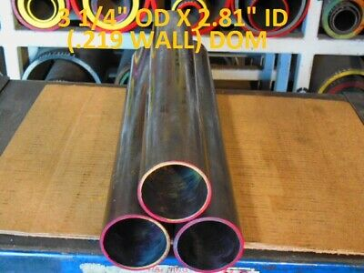 "E0244  Dom Round Steel Tube  3.250 Od  X   2.812 Id  (.219 Wall)   19""  Long"