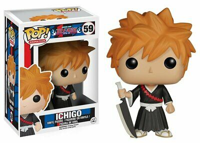 Funko Toys Pop BLEACH Anime ICHIGO with Weapon 4in. Figure #59 =FREE SHiP=