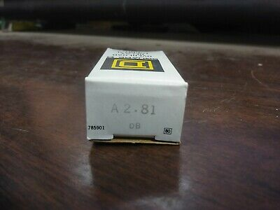 Square D A 2.81 A2.81 Overload Relay Thermal Units Set Of 3 New In Box