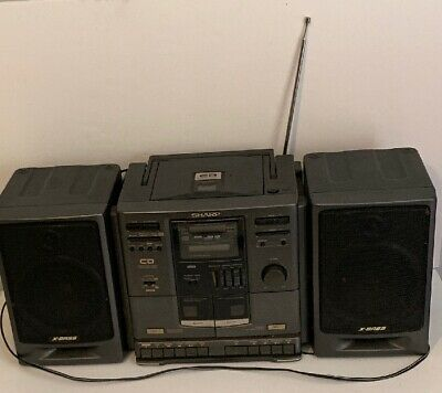 Sharp GX-CD610 Boombox Portable CD Stereo System FM AM Radio Speaker Cassette