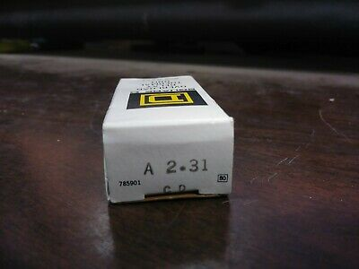 Square D A 2.31 A2.31 Overload Thermal Relay Unit Set Of 3 New In Box Surplus