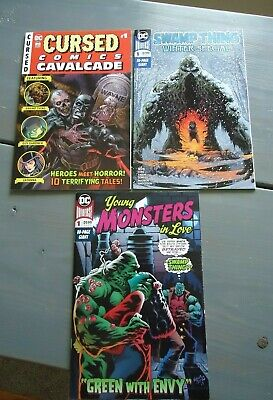 Swamp Thing Winter Special + Young Monsters In Love + Cursed Cavalcade COMIC LOT