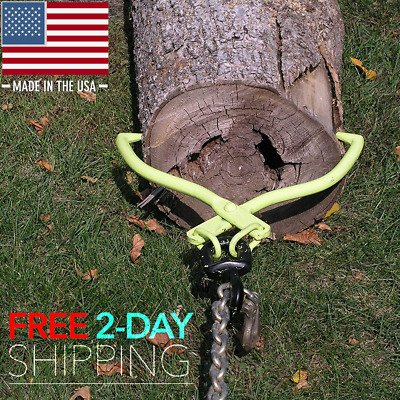 2x Heavy Duty Log Tongs with TPR Handle Forestry Dragging Move Grabber Lifting