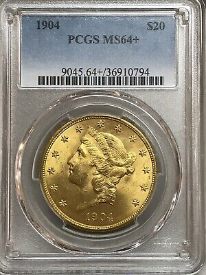 Exquisite Gem 1904 $20 Liberty Gold Double Eagle PCGS MS64+ Plus!!  36910794