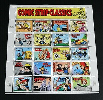 US Stamps Comic Strip Classics Complete Sheet - MNH 32 Cents 1995 FV$6.40