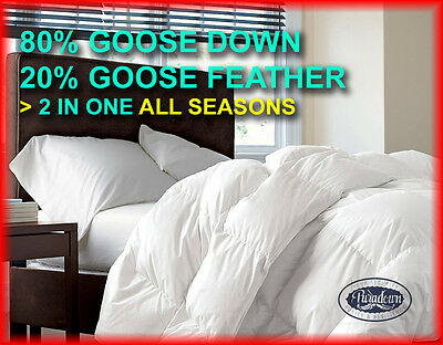 ALL SIZES Australia Made All Seasons 2in1 80% Goose Down 20% Feather Doona/Quilt