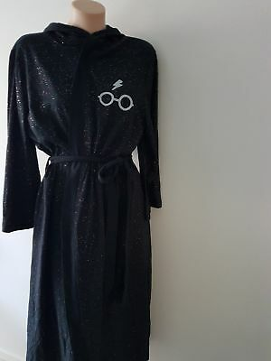 Peter Alexander Very Cool Harry Potter Black Hooded Robe XS/S NWT