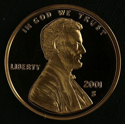 2001-S Proof Lincoln Cent ☆☆ Ultra Cameo ☆☆ Fresh From Proof Set