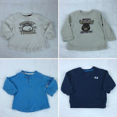 Jumping Beans Baby Toddler Boys 18M Graphic Sweater Long Sleeve Bundle Lot Of 4