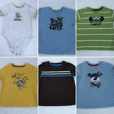 Jumping Beans Baby Toddler Boys 24M Short Sleeve Tee One Piece Bundle Lot Of 6