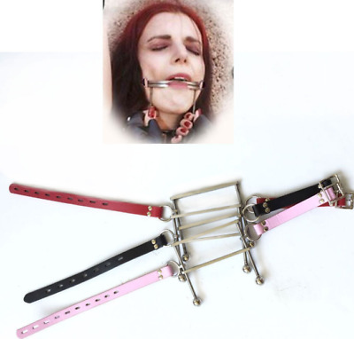 1Pc Stainless Steel Tongue Cangue Restraints Open Mouth Plug Stuffer Slave Gag