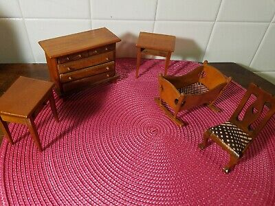 Vintage Wooden 36 X20 Baby Cradle Wood Nursery Furniture