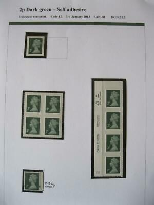 SPECIALISED COLLECTION OF UNMOUNTED MINT 2p MACHINS