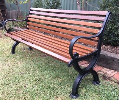 Cast Iron Garden Bench Seat Park Antique Vintage Outdoor Railway