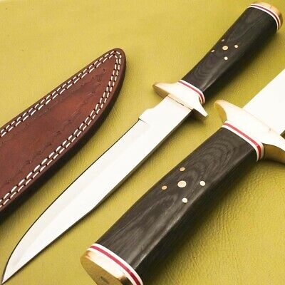 Custom Hand Made Stainless Steel Hunting Knife-Har Wood Handle-Jk-2993