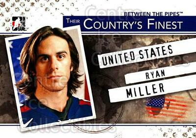2010-11 Between The Pipes Their Countrys Finest #2 Ryan Miller