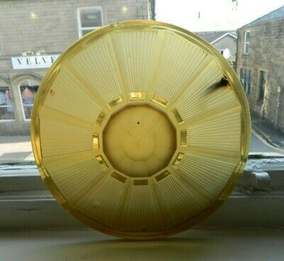 Original Art Deco Pressed Glass Ceiling Light Shade Amber Glass