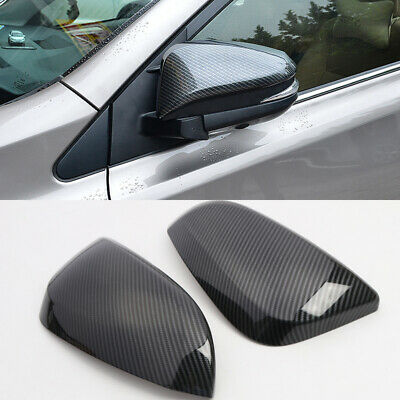 Carbon Fiber Look Rearview Side Mirror Cover Trim 2pcs For Toyota 4Runner 14-19
