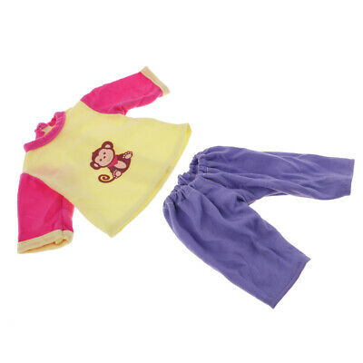 "Handmade Colorful Clothes Top Pants Set for 18"" AG American Doll Dress Up 2pcs"