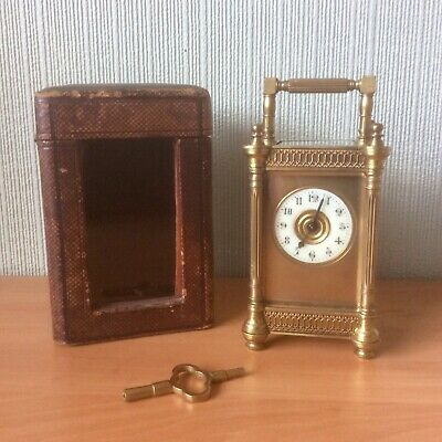 Exquisite Antique French Travelling 8 Day Carriage Clock