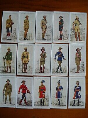 Player cigarettecards Military Uniforms of the British Empire Overseas Full set