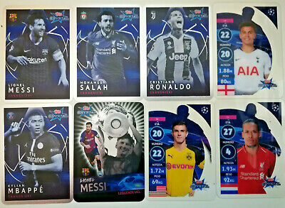 Topps Champions League CRYSTAL 2018-2019 ☆ PLASTIC FOOTBALL CARDS ☆ #1 to #125