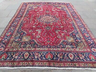 Old Traditional Hand Made Persian Oriental Red Wool Large Rug Carpet 332x250cm