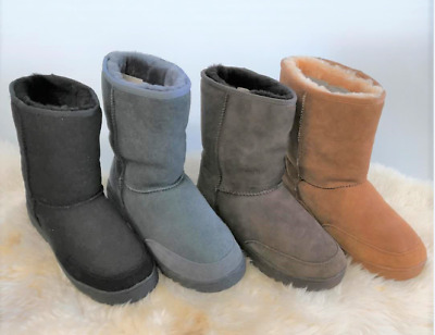 UGG 3/4+ Rubber Grip-sole grade A Australian twinface Sheepskins 4 Color Size4-9